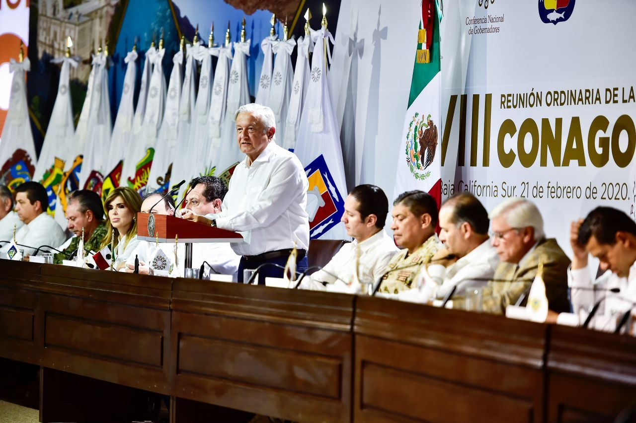 Foto: El presidente Andrés Manuel López Obrador se reunió con gobernadores de la Conago. Cuartoscuro