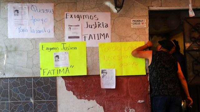 Foto: Protestan por la muerte de la niña Fátima. Reuters