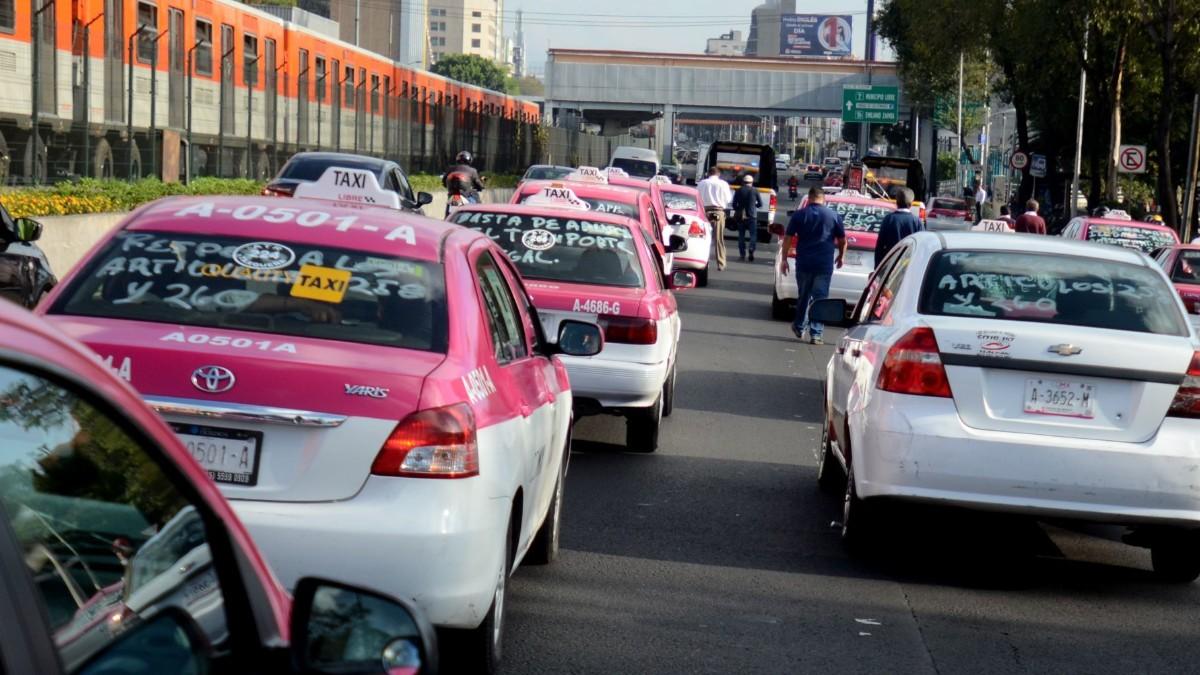 Foto: Protesta de taxis en la Ciudad de México. Cuartoscuro/Archivo