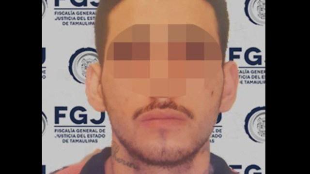 """Foto: Pablo César """"G"""", alias el """"Takia"""". Fiscalía de Tamaulipas"""