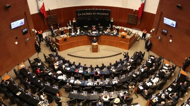 Foto: Sesión en la Cámara de Senadores. Cuartoscuro