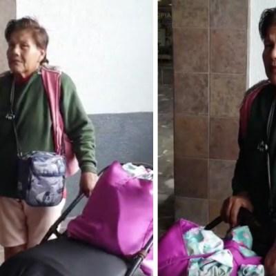 Joven abandona a su madre enferma en central de autobuses de Sonora