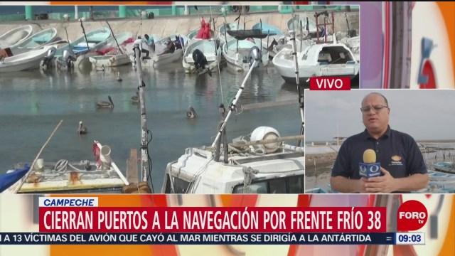 frente frio 38 provoca fuertes vientos y oleaje en peninsula de yucatan