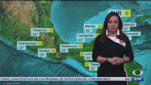 frente frio 39 provocara lluvias fuertes en oriente y sureste de mexico