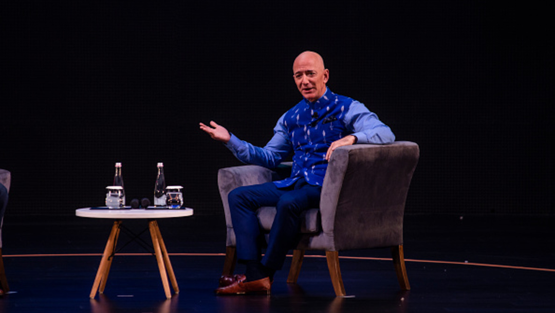 Foto: Jeff Bezos, hombre más rico del mundo, donará 10 mil MDD a lucha contra el cambio climático,17 de febrero de 2020, (Getty Images, archivo)