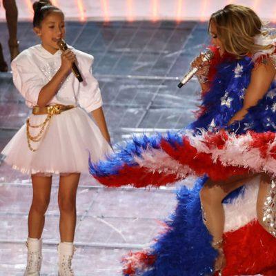 Emme Muñiz, la hija de J. Lo y Marc Anthony, es ovacionada en redes por show del Super Bowl