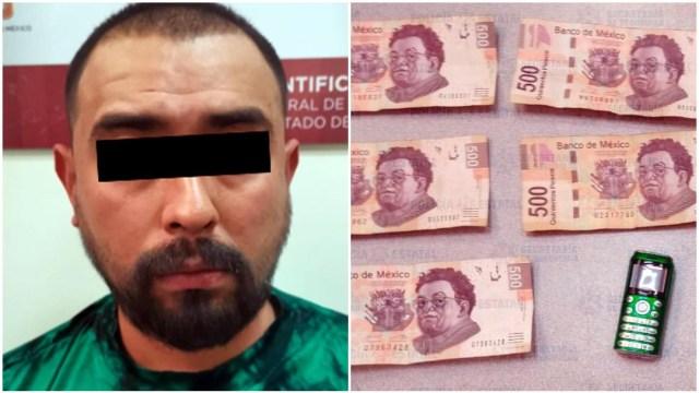 Foto: Un hombre fue detenido por extorsionar a su papá, 1 de febrero de 2020 (SS_Edomex)