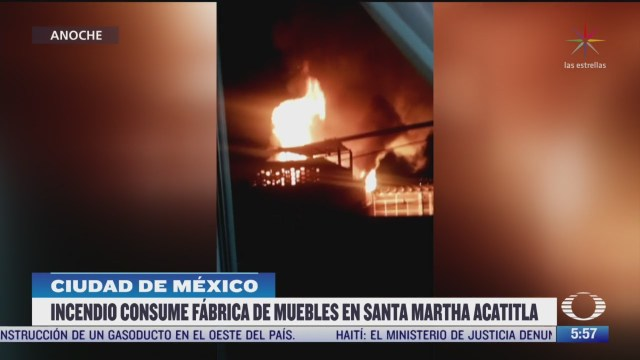 incendio consumen fabrica de muebles en iztapalapa cdmx