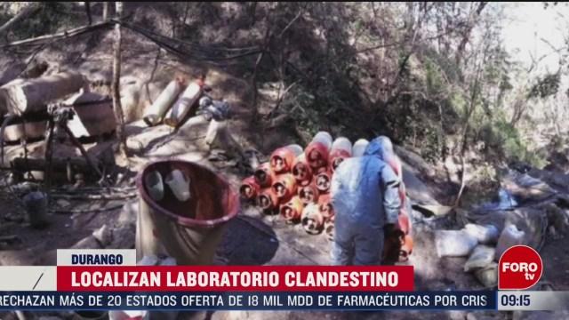 FOTO: 16 Febrero 2020, localizan narcolaboratorio en durango