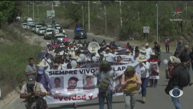 Foto: Los Lebarón Encabezan Marcha Paz Chilapa Guerrero 10 Febrero 2020