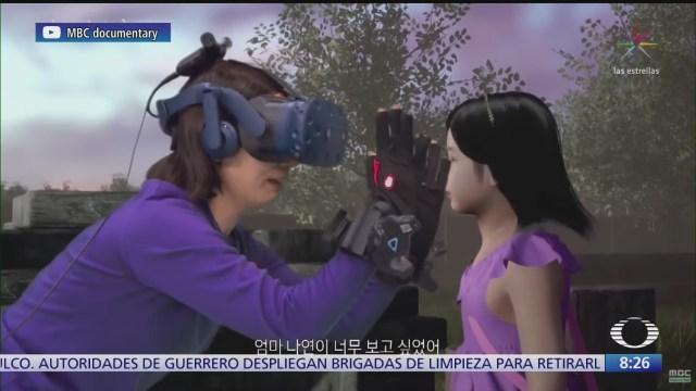 mama abraza a su hija fallecida por medio de realidad virtual