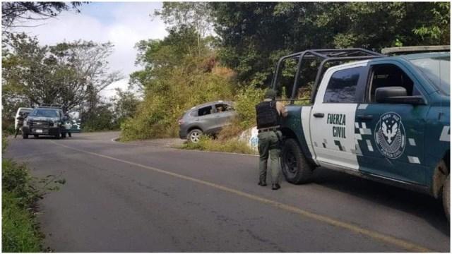 Foto: Mueren tres tras ataque a base de la Fuerza Civil en Veracruz, 22 de febrero de 2020 (Noticieros Televisa)