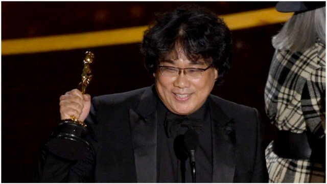 Foto: Bong Joon Ho ganó el Oscar a Mejor Director por 'Parásitos', 9 de febrero de 2020 (Getty Images)