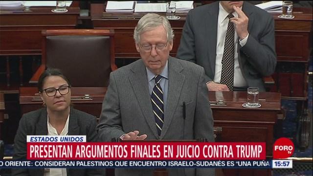 FOTO: 3 Febrero 2020, presentan argumentos finales en juicio contra trump