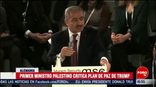 FOTO: 16 Febrero 2020, primer ministro de palestina critica plan de paz de donald trump