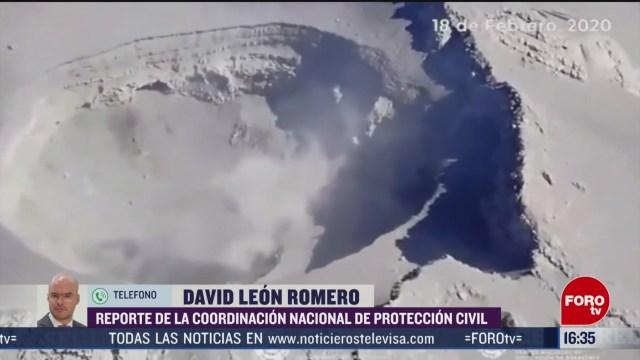 FOTO: proteccion civil monitorea actividad del volcan popocatepetl 18 de febrero