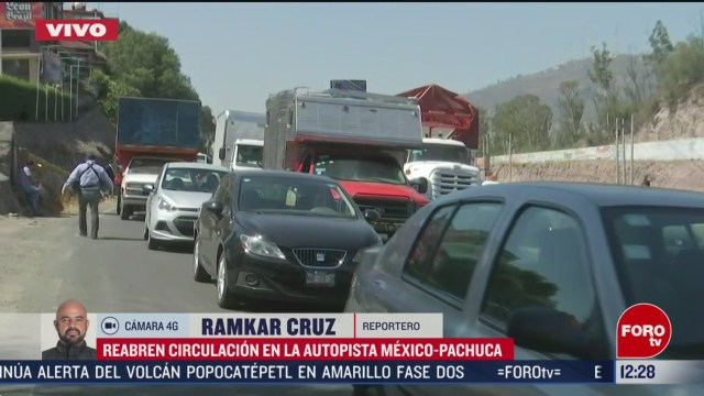 reabren circulacion en autopista mexico pachuca tras bloqueo de conimer