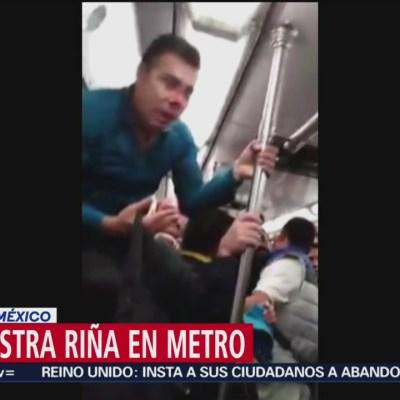 Riña entre usuarios del metro de la CDMX