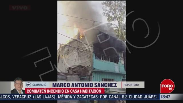 FOTO: se registra incendio en casa habitacion de iztacalco
