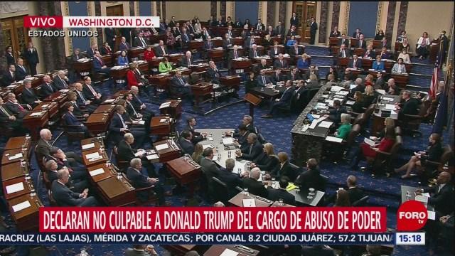 FOTO: senado de eeuu comienza votacion por juicio contra trump