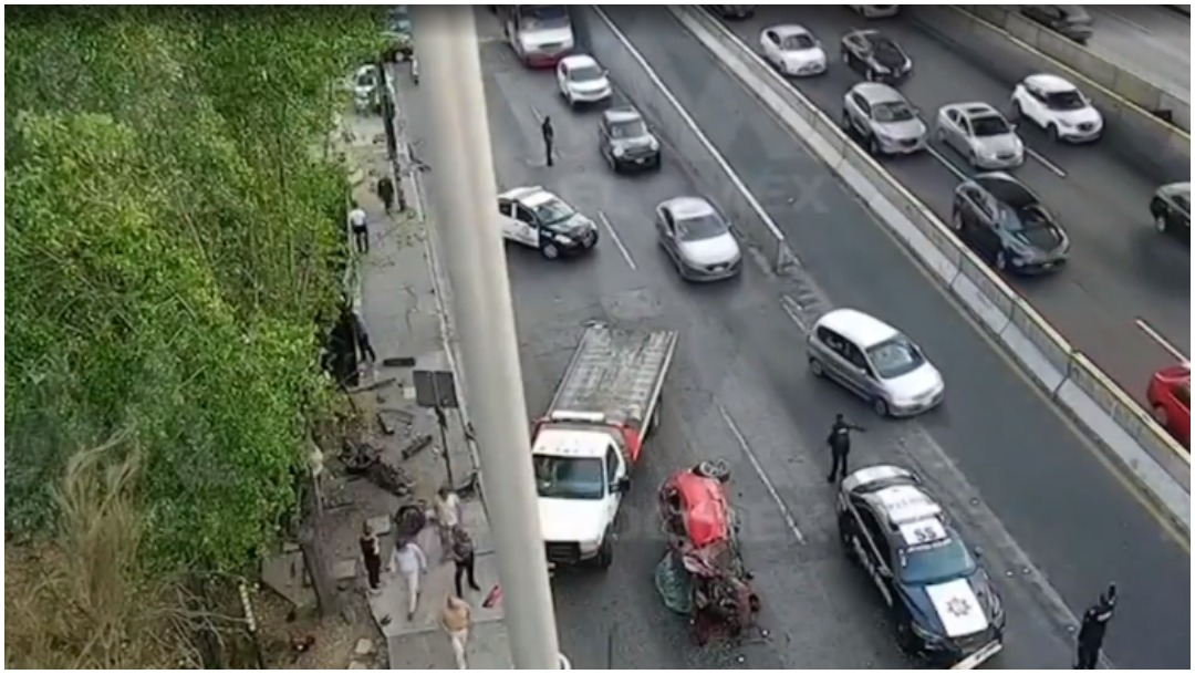 Foto: Dan a conocer video de accidente registrado en la zona de Satélite, 23 de febrero de 2020 (Foro TV)