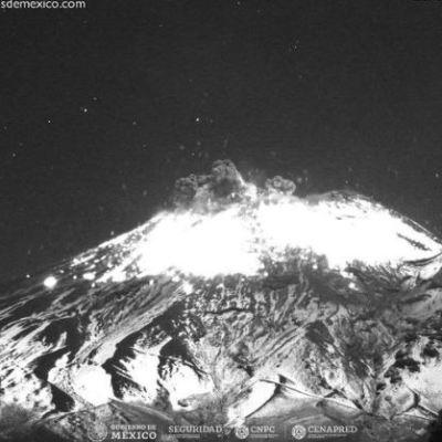 Volcán Popocatépetl registra explosión; alerta se mantiene en Amarillo Fase 2