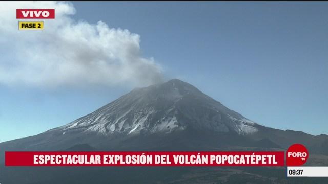 volcan popocatepetl registra explosion alerta se mantiene en amarillo fase