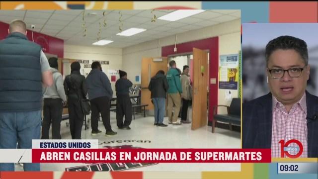 abren casillas en jornada del supermartes en estados unidos