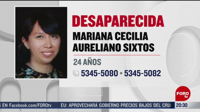 Foto: Alerta Localizar Mariana Cecilia Cdmx Exalumna UNAM 13 Marzo 2020