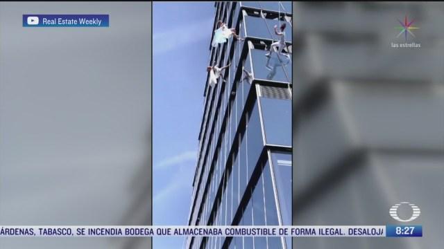 aerocrobacia en rascacielos de nueva york