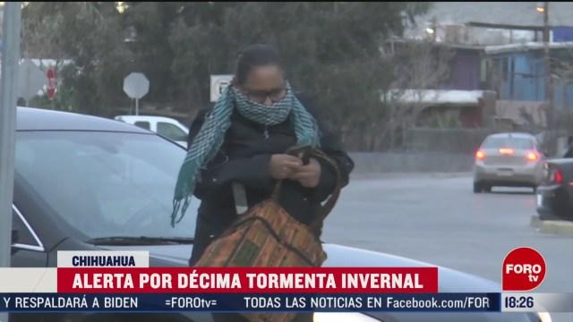 FOTO: alerta en chihuahua por decima tormenta invernal