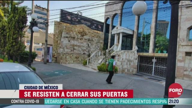 FOTO: 29 marzo 2020, algunos negocios e iglesias de la cdmx se resisten a cerrar sus puertas por el coronavirus