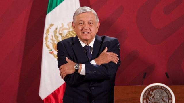 El presidente Andrés Manuel López Obrador durante su conferencia matutina en Palacio Nacional. (Foto: Cuartoscuro)