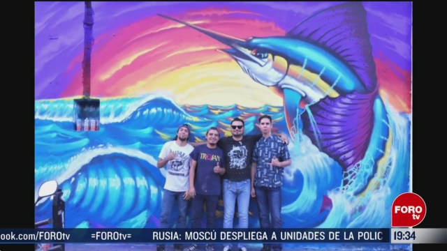 Foto: Artistas Pintan Murales Zonas Conflictivas Manzanillo 2 Marzo 2020