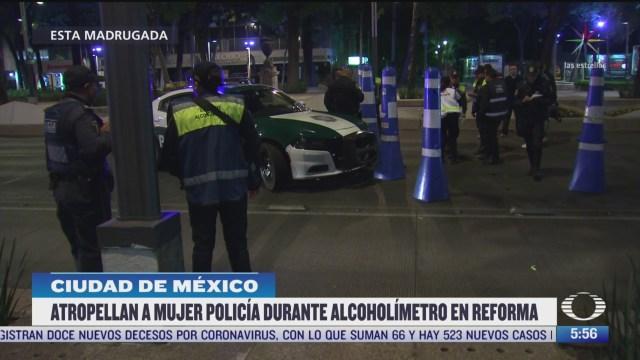 Buscan a conductor que atropelló a mujer policía en la CDMX