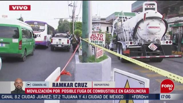 FOTO: 1 marzo 2020, autoridades descartan riesgos por fuga de combustible en gasolinera