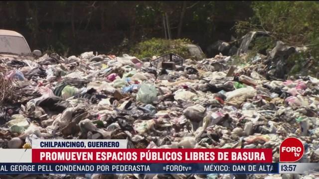 FOTO: autoridades en guerrero realizan campana para evitar que ciudadanos tiren basura