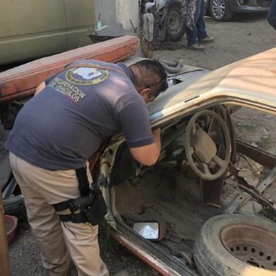 Catean inmuebles con autos robados en tres municipios del Estado de México