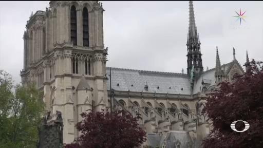 Foto: Catedral Notre Dame París Avanzan Trabajos Reparación 24 Marzo 2020