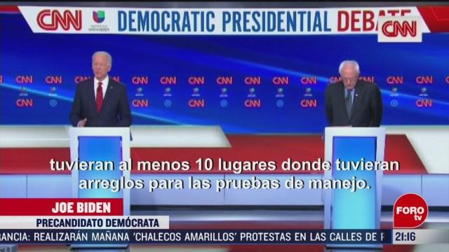 FOTO: 15 marzo 2020, candidatos democratas debaten sobre la crisis del coronavirus