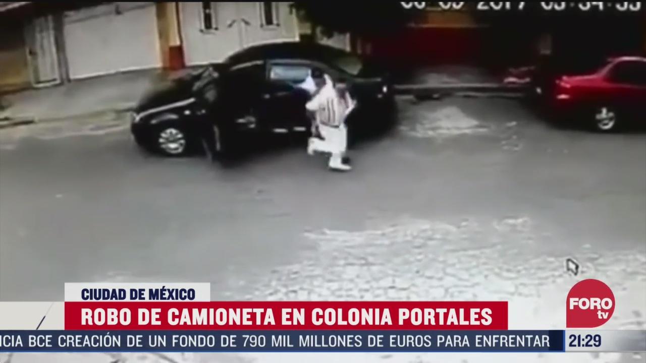 Foto: Video Robo Camioneta Colonia Portales CDMX Hoy 13 Marzo 2020