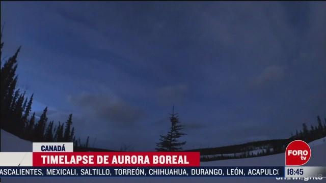 Foto: Video Timelapse Aurora Boreal Canadá 6 Marzo 2020