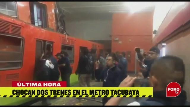 Foto: Video Chocan Trenes Metro Tacubaya Hoy 10 Marzo 2020