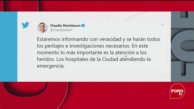 Foto: Claudia Sheinbaum Confirma Muerto Choque Trenes Estación Tacubaya 10 Marzo 2020