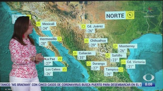 FOTO: 16 marzo 2020, Clima Al Aire Prevén lluvias en gran parte de México