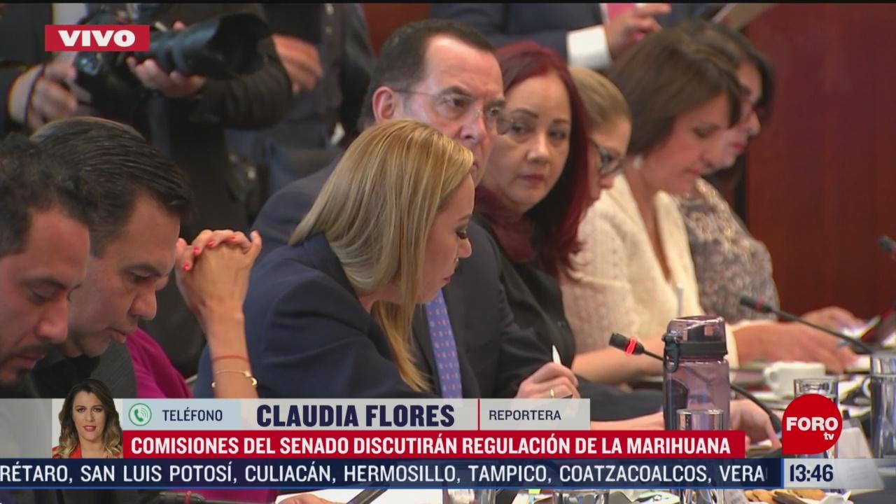 FOTO: comisiones del senado discuten regulacion de la marihuana