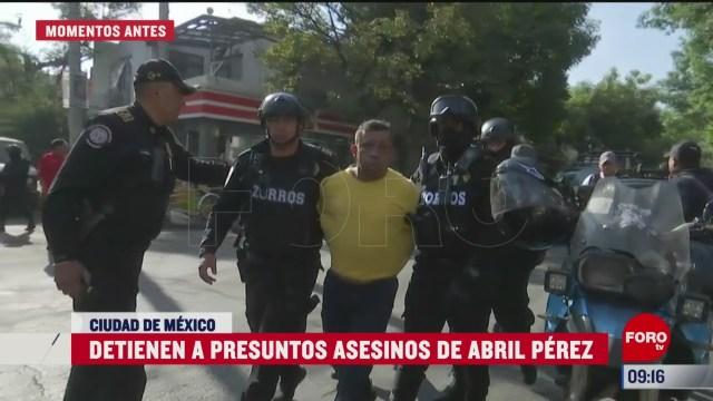 con la detencion de los presuntos asesinos de abril perez inicia la investigacion