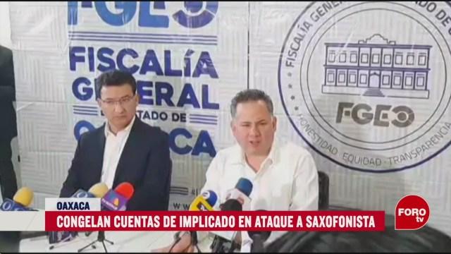 Foto: Congelan Cuentas Bancarias Agresor Saxofonista Oaxaca 6 Marzo 2020