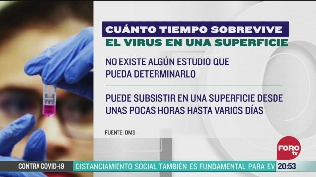 Foto: Coronavirus Cuánto Vive Covid-19 Superficies 25 Marzo 2020