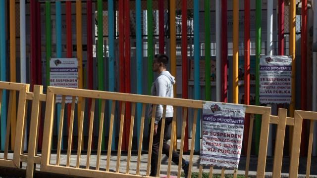 Escuela primaria cerrada por coronavirus. (Cuartoscuro, archivo)